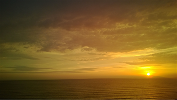 Sunset over the Pacific - Miraflores, Lima, Peru